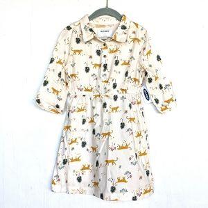 OLD NAVY toddler cheetah novelty print shirt dress